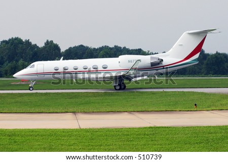 Gulfstream IV on taxiway