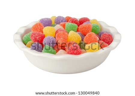Gum Drops Isolated on a white background