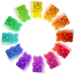 Gummy Bears in a Circle Colorful