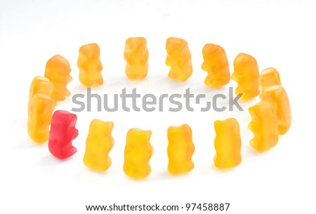 Gummy bears series - integration, (conceptual)