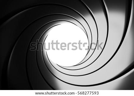 Gun barrel effect - 3D illustration