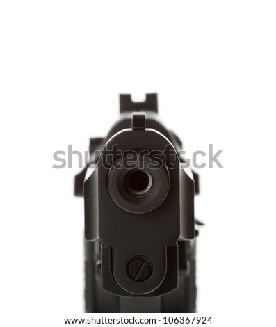 gun barrel isolated on white background