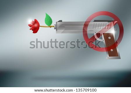 Gun Control Concept and Icon - stock photo