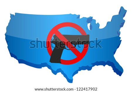 gun control us concept illustration design over white