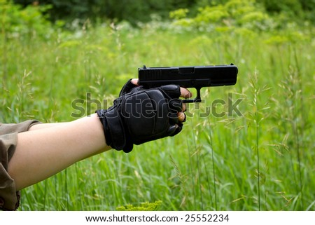 gun in hands
