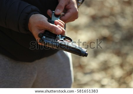 Gun in the hand