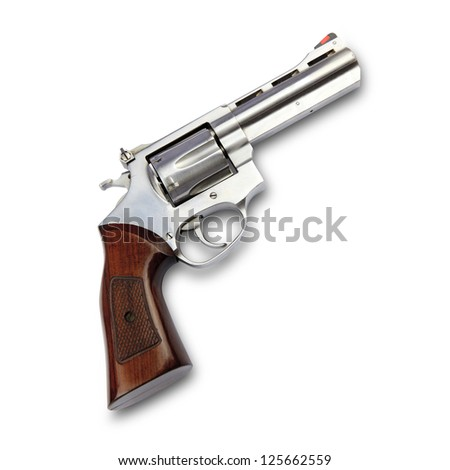 Gun isolated on white background with clipping path