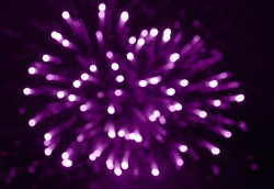 Gun salute as form of royal salute. Fireworks with multi-colored glare. Colorful exploding fireworks in sky. Festive and triumphant scenery