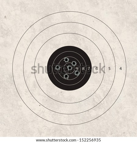 gun shoot to the shooting target concept