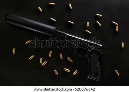 gun with a silencer #620096642