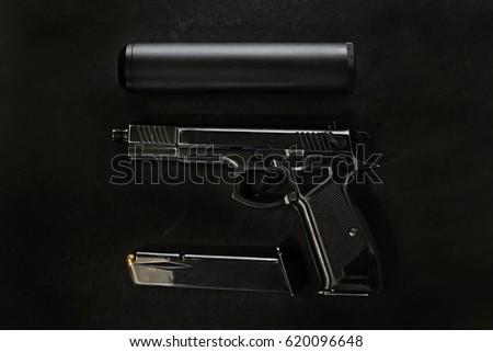 gun with a silencer #620096648