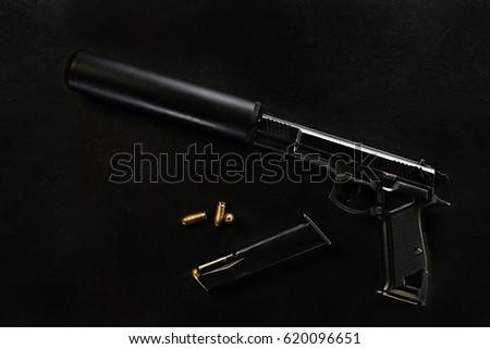 gun with a silencer #620096651