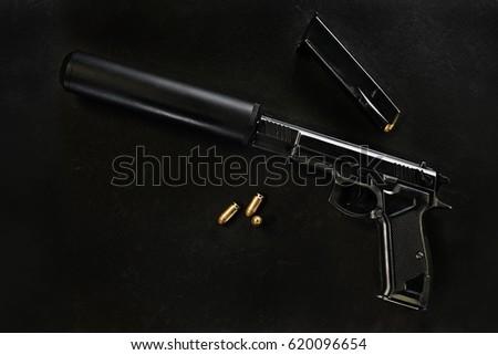 gun with a silencer #620096654
