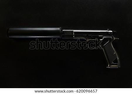gun with a silencer #620096657