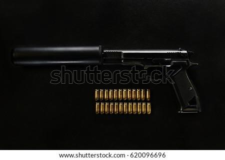 gun with a silencer #620096696