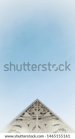 Gunungan with clear sky background #1465155161