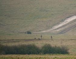 gurkha soldiers in mock battle exercise on Salisbury Plain, Wiltshire