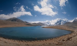 Gurudongmar lake is one of the highest lake in the world located at height of 18,700 feet at North Sikkim