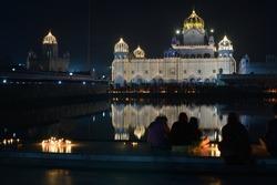 Gurudwara Shri Dukhniwaran Sahib, Patiala, India, a historic religious place of Sikhs is visited by people from all religions. Gurudwara is all lit up during Gurupurab on 30th Nov. 2020.