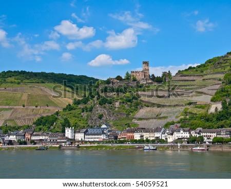 Gutenfels castle in famous rhine valley