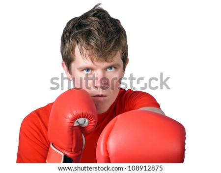 guy - a boxer on a white background
