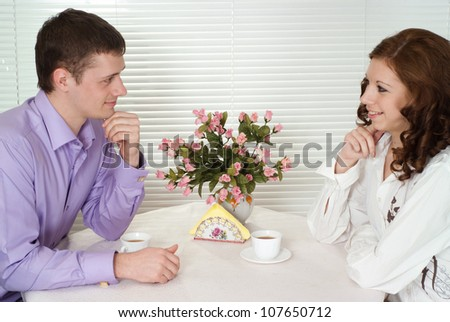 Guy and a girl came into the cafe
