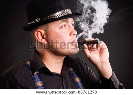 guy in a business style with a cigar