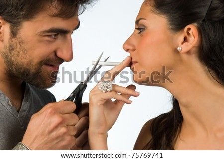 Guy trying to help his girlfriend stop smoking
