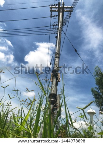 Guy wire or guy line or guy rope for cling Concrete poles