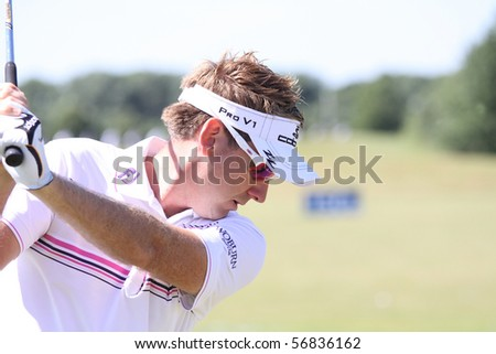 GUYANCOURT, FRANCE - JULY 3 : Ian Poulter (ENG) at The French Open, European Golf Tour, Paris, july 03, 2010, at the Golf National, Guyancourt, France. - stock photo