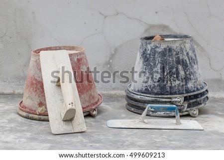 Gyan plaster ,Construction tool , trowel concrete plaster