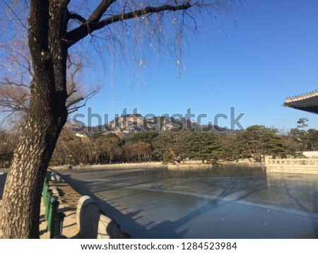 Gyeongbokgung Palace, Seoul / South Korea - January 2 2019 #1284523984