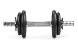 Gym dumbbell isolated white background
