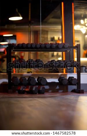 gym equipment and gym interior