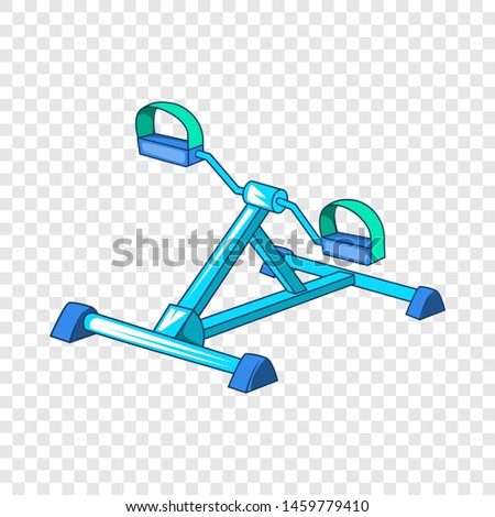 Gym equipment icon. Cartoon illustration of gym equipment icon for web.
