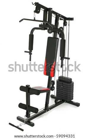 Gym machine isolated on white