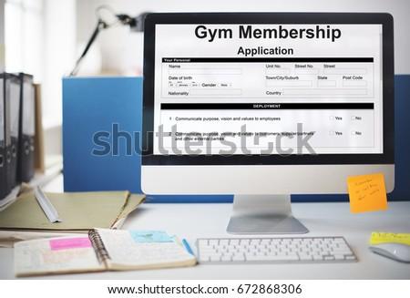 Gym Membership Application Form Request Concept #672868306