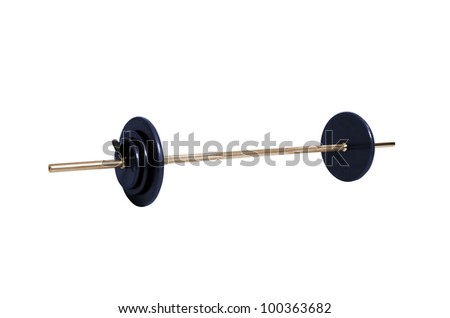 Gym weight isolated on white