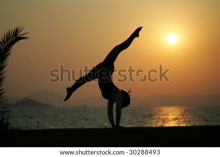 gymnastic - stock photo