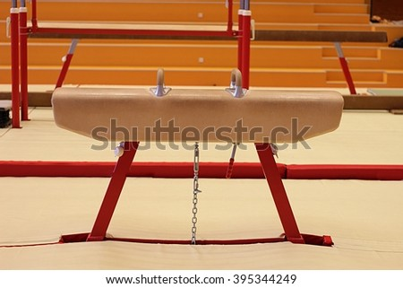 Gymnastic equipment from the gymnastic club Støkk