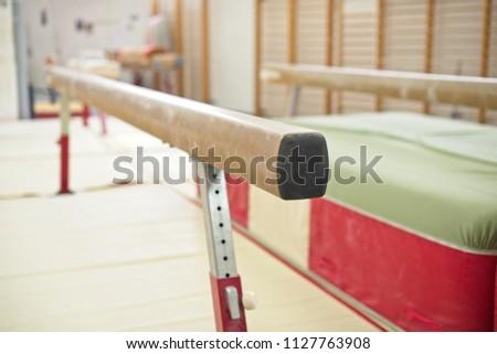 Gymnastics Hall. Gymnastic equipment.Beam