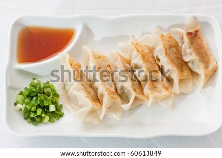Gyoza Chinese food.