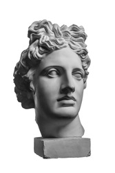 Gypsum statue of Apollo's head