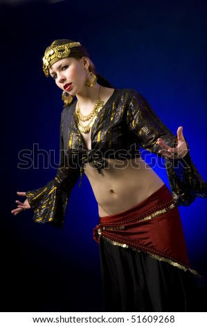 Gypsy dances with blue background