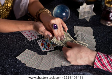 Gypsy fortune teller wonders on the magic ball Free Images