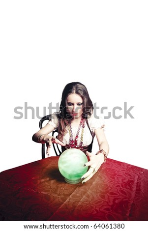 gypsy woman with crystal ball