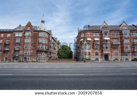 H. C. Andersens Boulevard Buildings - Copenhagen, Denmark Photo stock ©