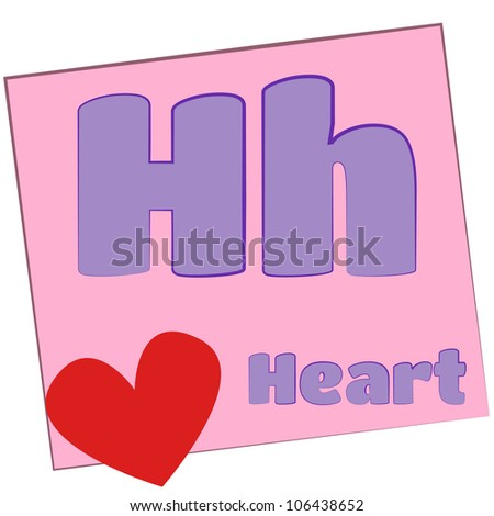 h alphabet in heart  heart/Colorful alphabet letters with