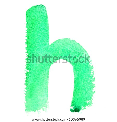 H - Watercolor letters (Lower case)