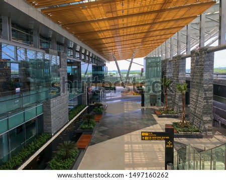 Ha Long / Vietnam - Sep 04,2019 : Landscape view of Van Don international airport in Quang Ninh province #1497160262